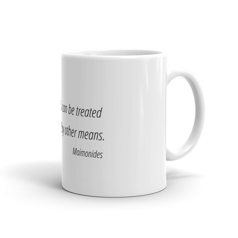 Image of Let nothing that can be treated by diet - Mug