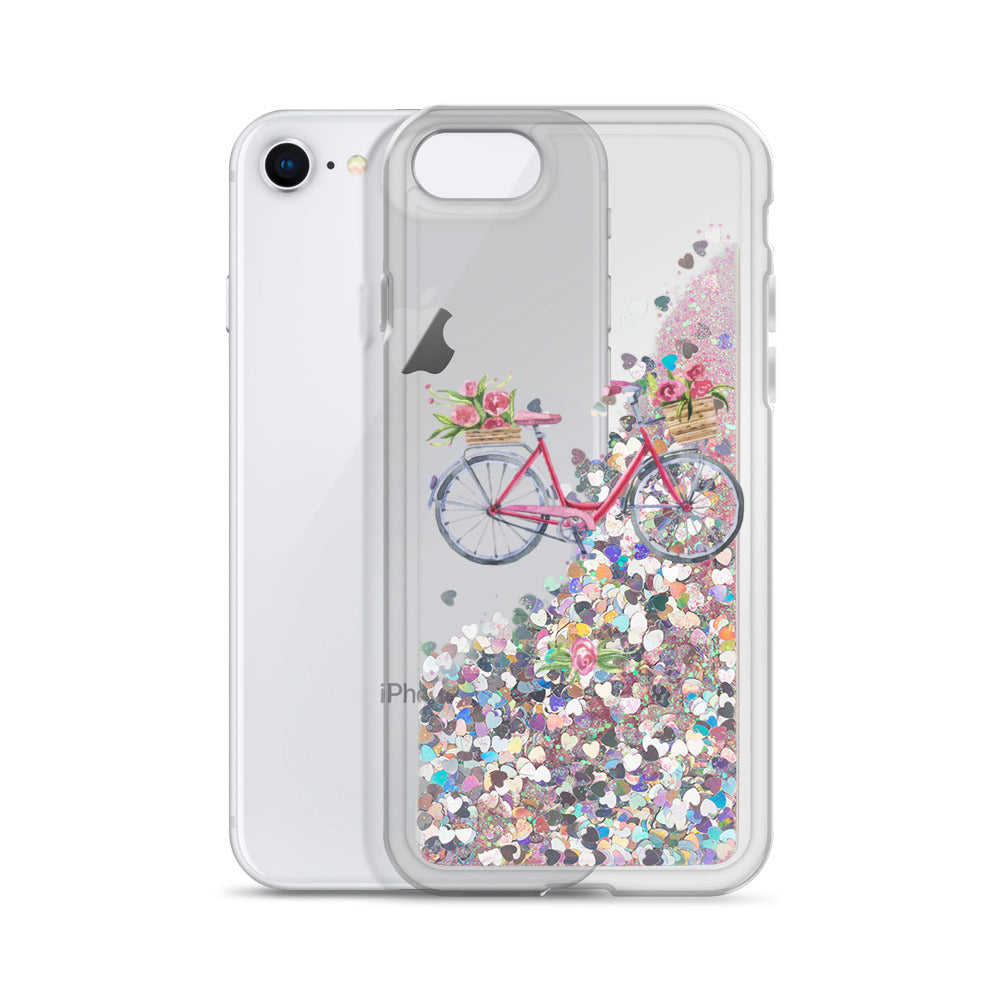 Bicycle Liquid Glitter Phone Case