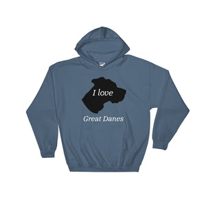 I love Great Danes Hooded Sweatshirt