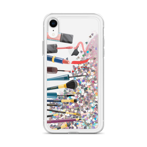 Makeup Artist's/ Makeup Lover's Liquid Glitter Phone Case