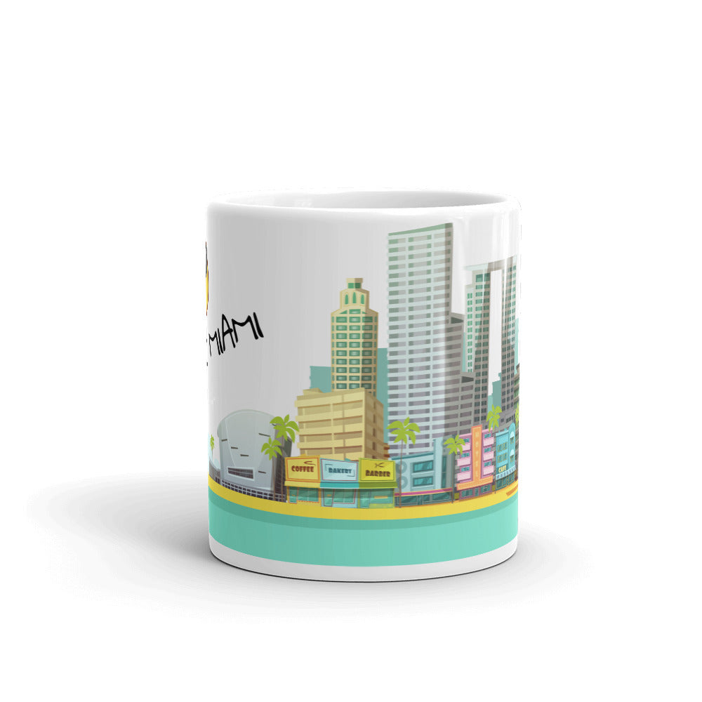 I Love Miami Skyline Coffee Mug