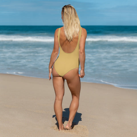 Honey Yellow One-Piece Swimsuit