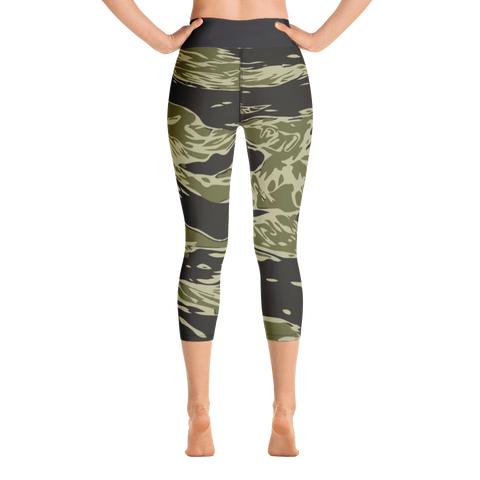 Image of Camouflage Yoga Capri Leggings