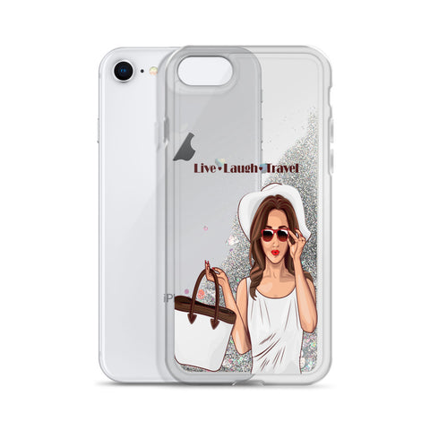Image of Live Laugh Travel Liquid Glitter Phone Case