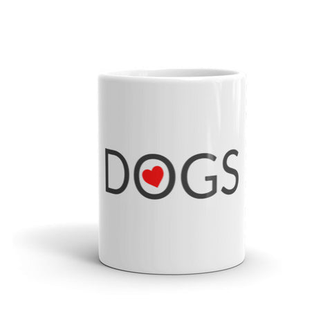 Image of Love Dogs mug from Long Living Pets