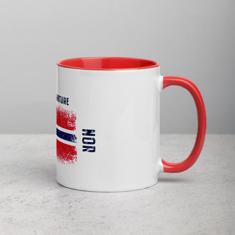 Norway Powered by Nature Mug with Color Red Inside