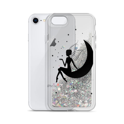 Image of Fairy Silhouette Liquid Glitter Phone Case