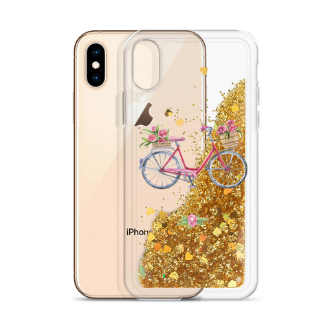 Image of Bicycle Liquid Glitter Phone Case