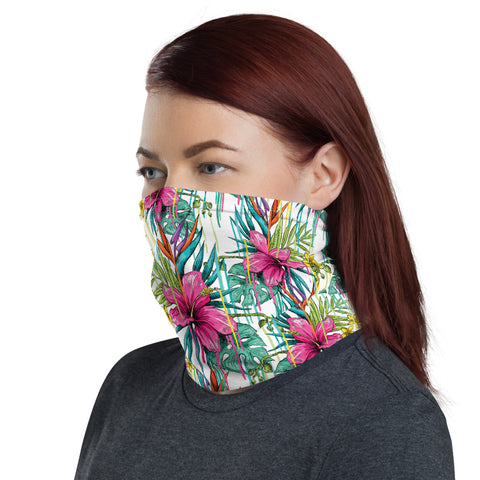 Image of Colorful Flower  Neck Gaiter