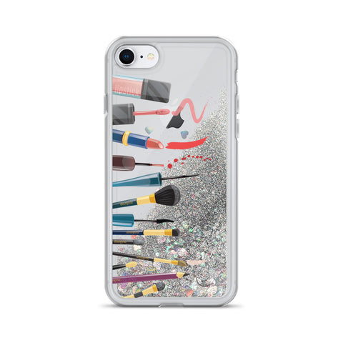 Image of Makeup Artist's/ Makeup Lover's Liquid Glitter Phone Case