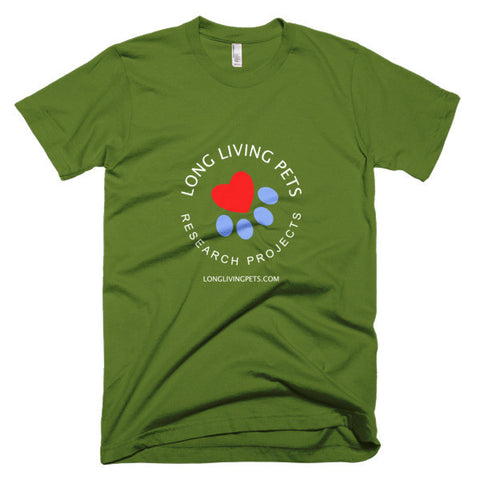 Image of Long Living Pets Research - Short sleeve men's t-shirt. Front and back print