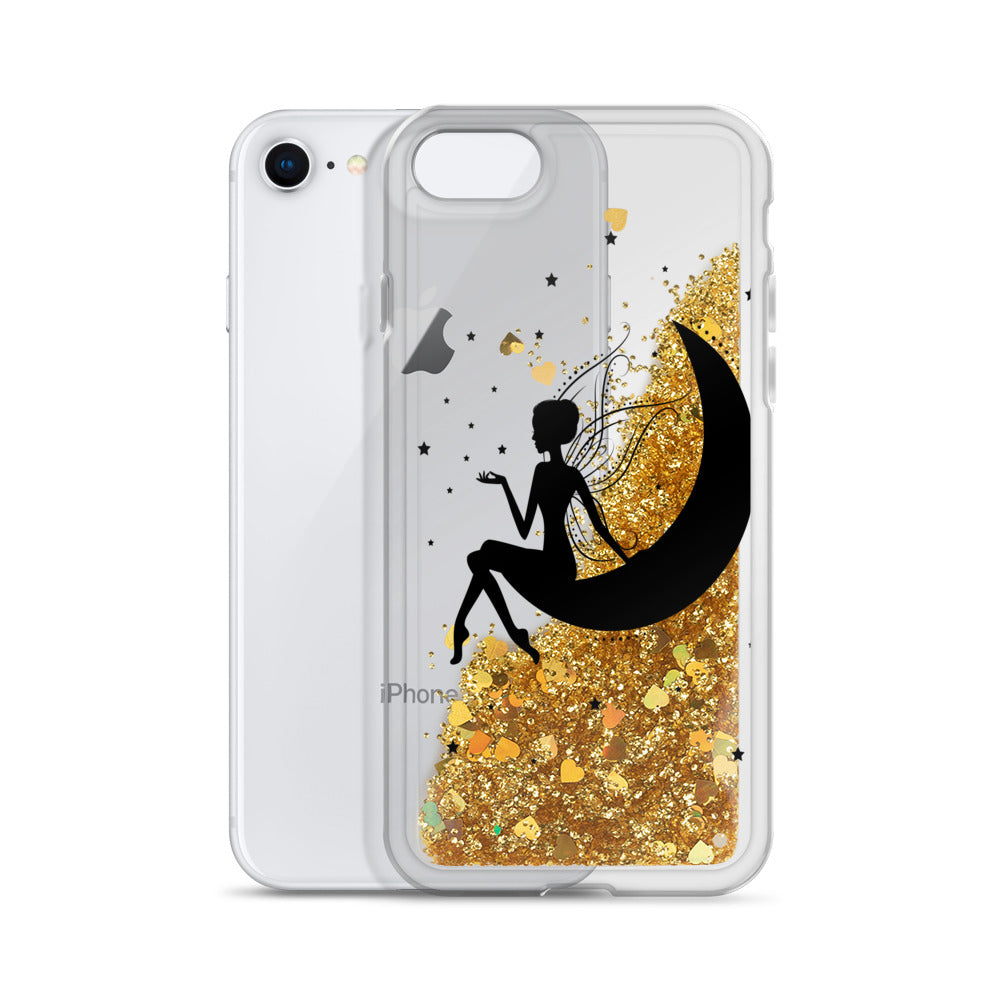 Fairy Silhouette Liquid Glitter Phone Case