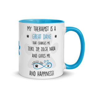 Therepist, Great Dane gift, Great Dane mom, Great Dane mug, Great Dane gift for women, Great Dane mom mug, Great Dane mommy, Great Dane
