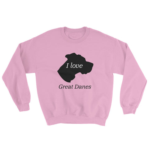 Image of I love Great Danes Sweatshirt