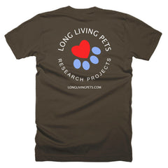 Long Living Pets Research - Short sleeve men's t-shirt. Front and back print