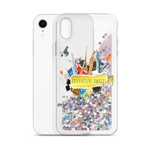 Adventure Awaits Liquid Glitter Phone Case