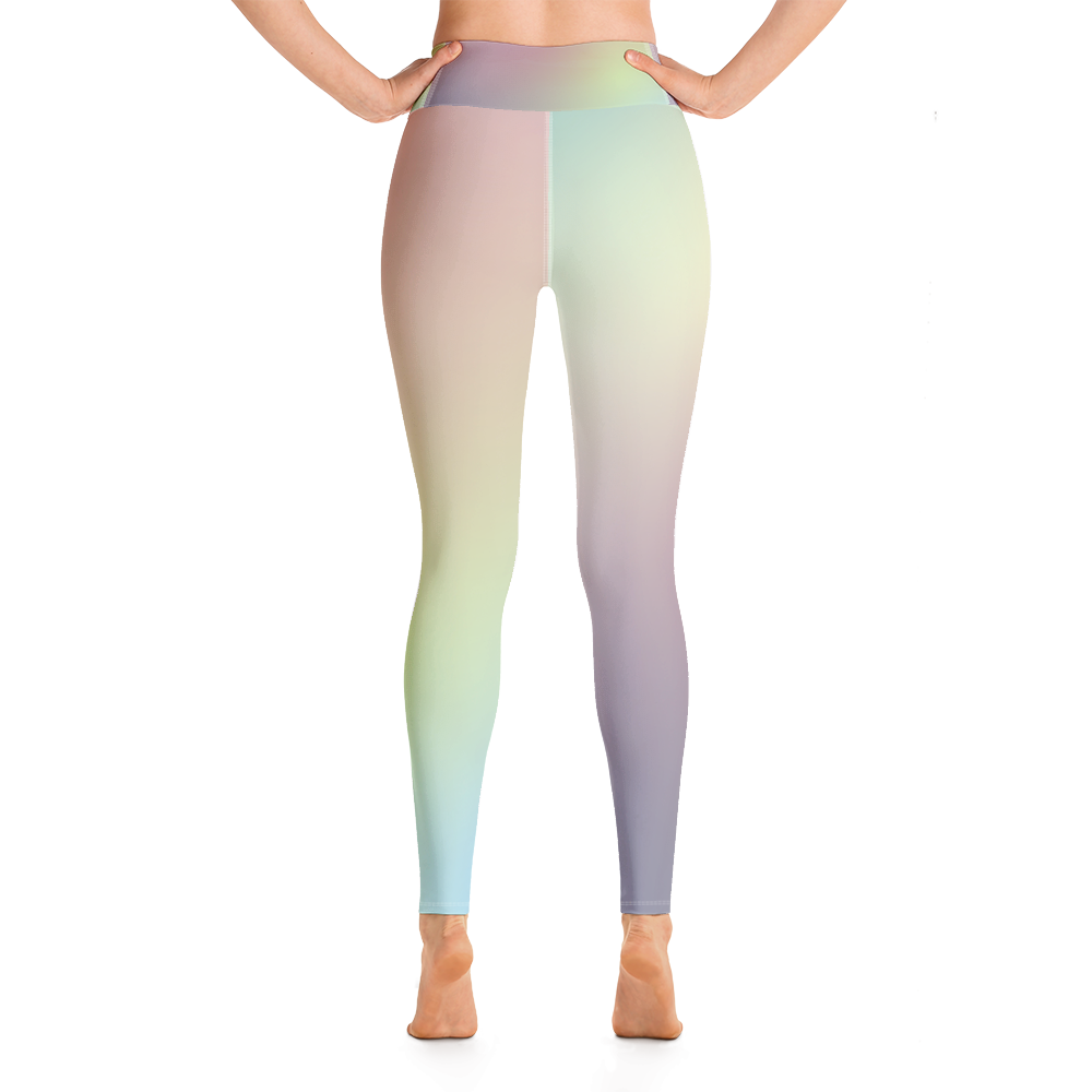 Pastel Rainbow Yoga Leggings