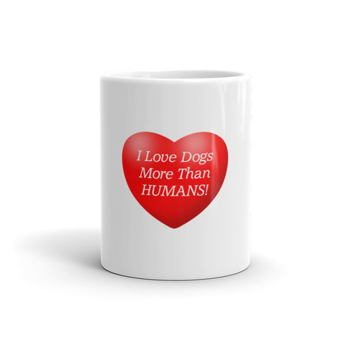 Image of I love dogs more than humans - Mug