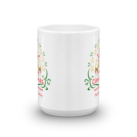 Image of Merry Christmas and Happy New Year Mug - Personalize It!