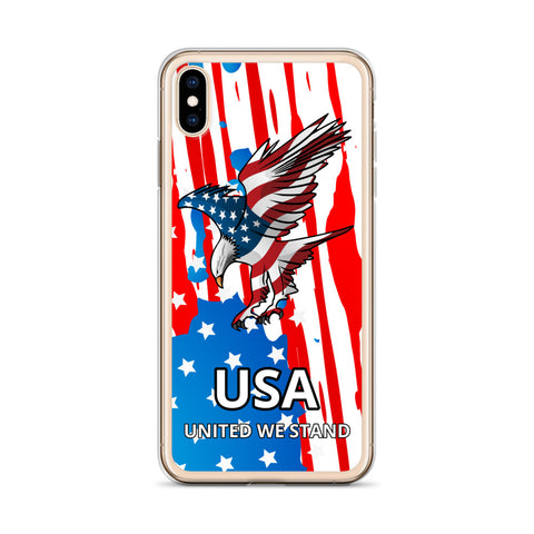 Image of iPhone Case with American Eagle and Flag