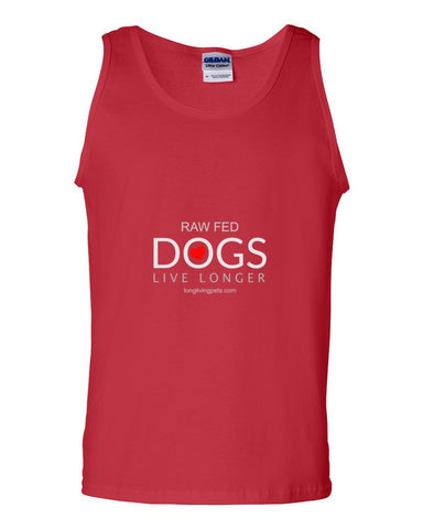 Image of Tank top - Raw Fed Dogs Live Longer