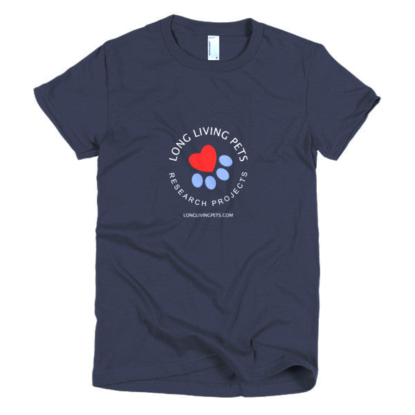 Long Living Pets Research - Short sleeve women's t-shirt