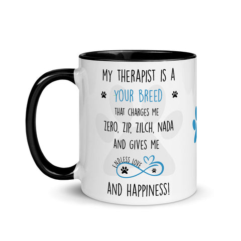 Image of Dogs are the Best Therapists, Dog lover mug , Dog Lover Gift, Dog Lover Mom, Dog Lover Gift mug, Dog Lover Gift for women, Funny Dog Lover Gift, Dog mommy,