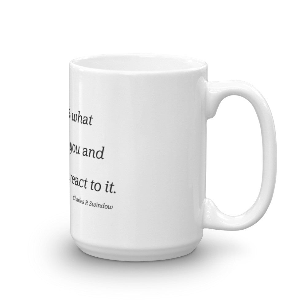 Life is 10% what happens to you - Mug