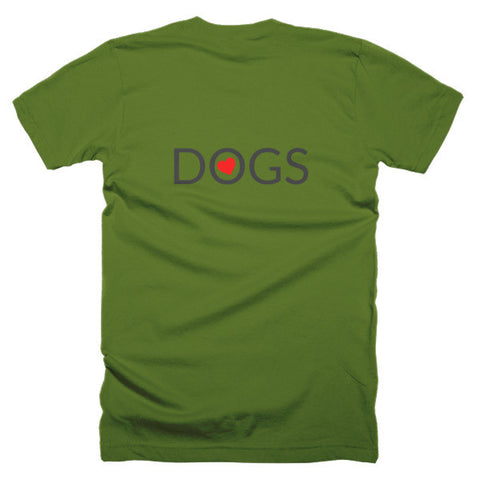 Image of Love Dogs short sleeve men's t-shirt
