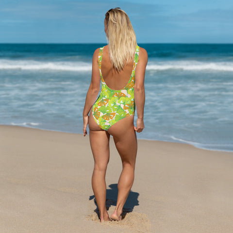 Image of Colorful Floral One-Piece Swimsuit