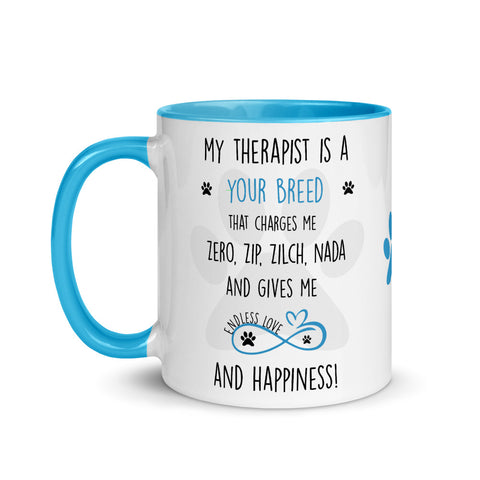 Dogs are the Best Therapists, Dog lover mug , Dog Lover Gift, Dog Lover Mom, Dog Lover Gift mug, Dog Lover Gift for women, Funny Dog Lover Gift, Dog mommy,