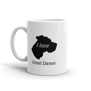 I love Great Danes Mug