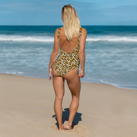 Image of Leopard One-Piece Swimsuit