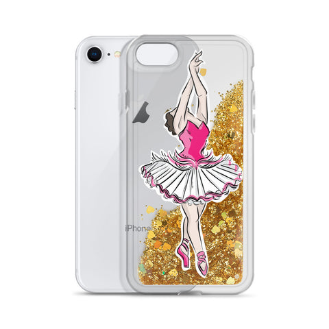 Ballet Dancer Liquid Glitter Phone Case