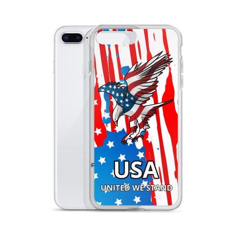 iPhone Case with American Eagle and Flag