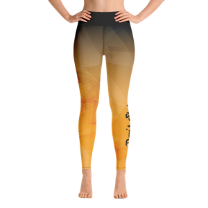 Black and Gold Abstract Yoga Leggings (Don't Stop)