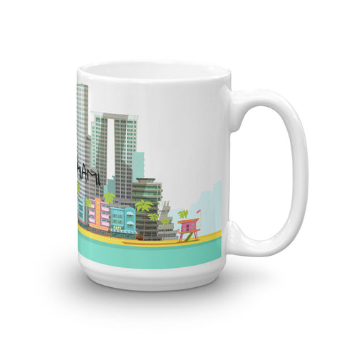 Image of I Love Miami Skyline Coffee Mug