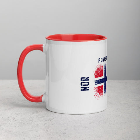 Image of Norway Powered by Nature Mug with Color Red Inside