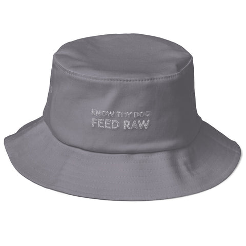 Image of Know Thy Dog Feed Raw Old School Bucket Hat