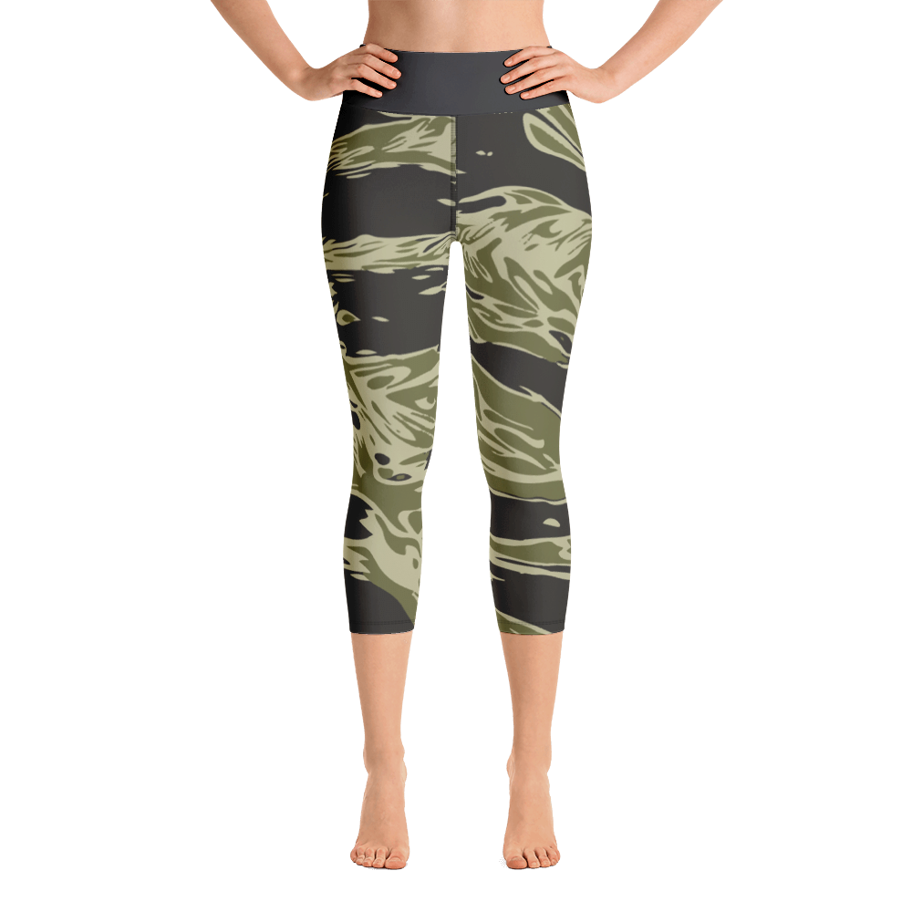 Camouflage Yoga Capri Leggings