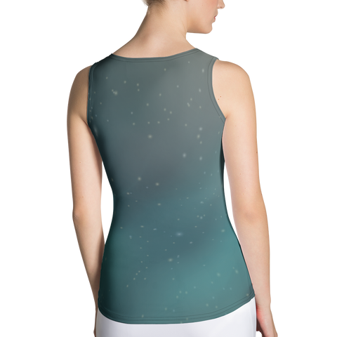 Image of Body Hugging Tank Top with Wolfe image