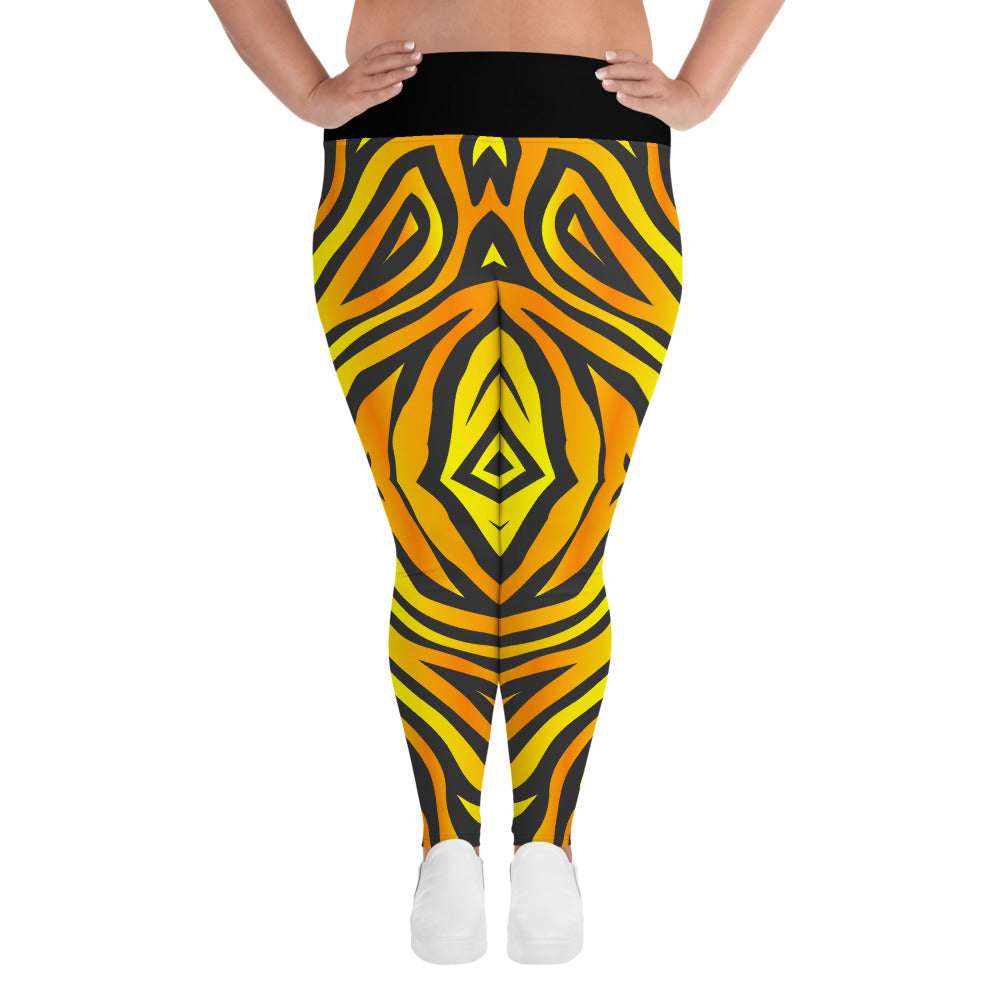 Plus Size Leggings with Tiger Pattern