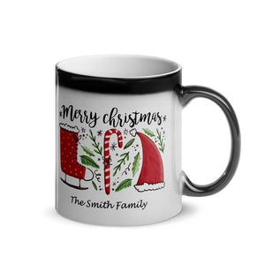 Merry Christmas Glossy Magic Mug - Customize It!
