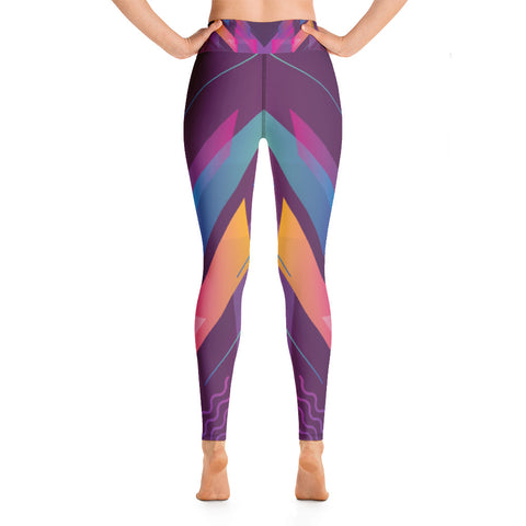 Image of Colorful Geometric Design Yoga Leggings