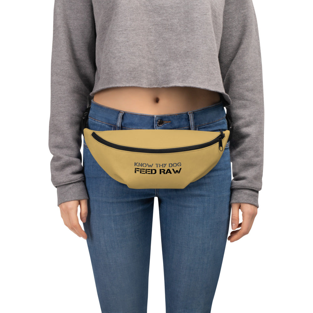 Know Thy Dog Feed raw - Fanny Pack - Yellow Honey