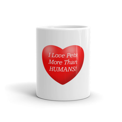 Image of I love pets more than humans - Mug