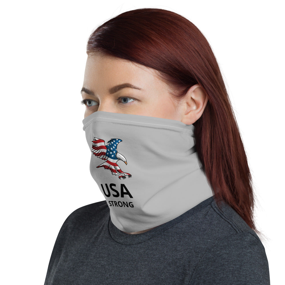 USA Strong Neck Gaiter with American Eagle