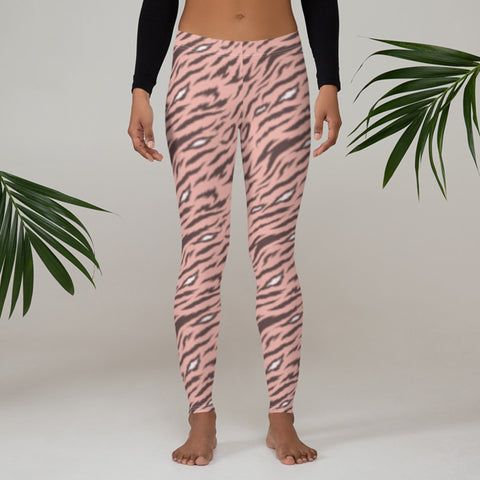 Image of Pink Leggings with Tiger Print