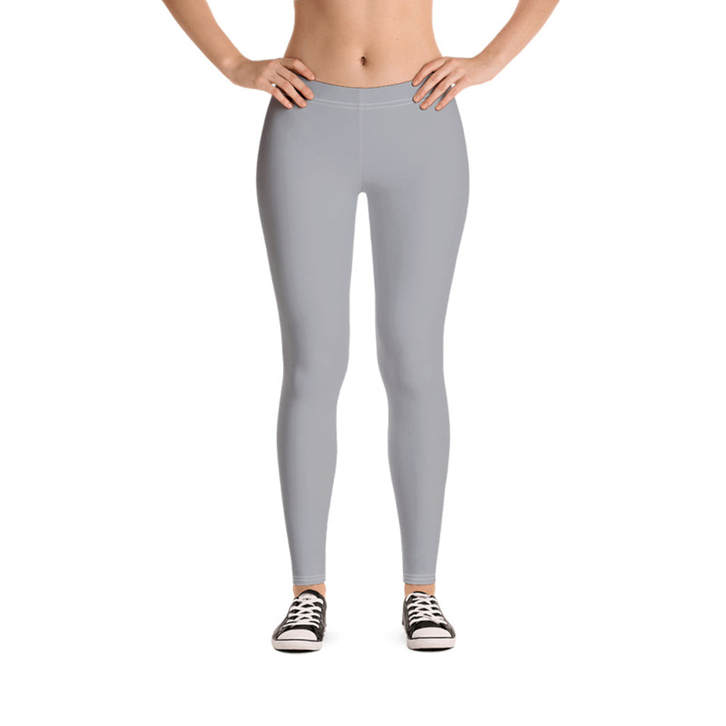 Plain Light Gray Leggings