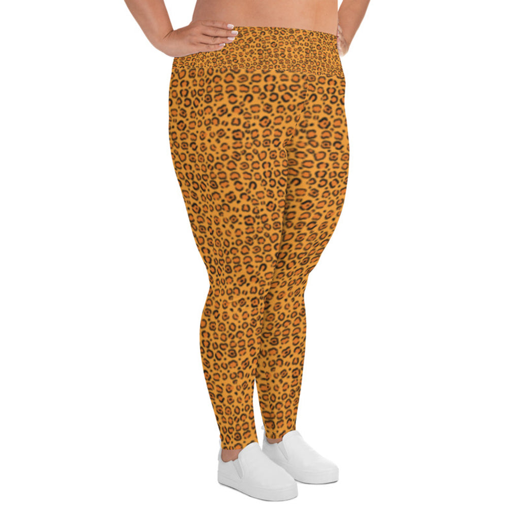 Plus Size Leggings with Cheetah Print